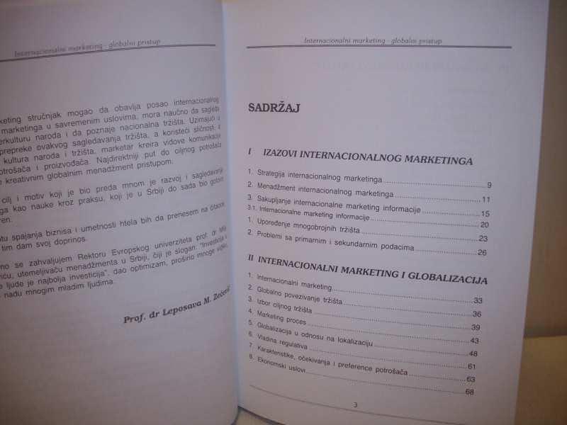INTERNACIONALNI MARKETING (Globalni pristup)