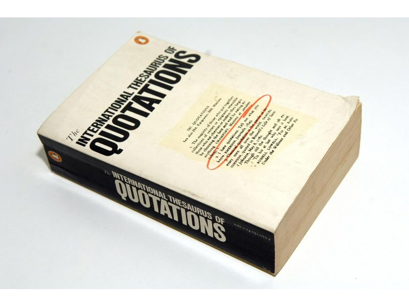 INTERNATIONAL THESAURUS OF QUOTATIONS