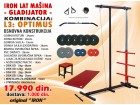 IRON Lat Mašina - GLADIJATOR - Set 3 + 44kg tegova