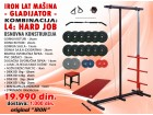 IRON Lat Mašina - GLADIJATOR - Set 3 + 74kg tegova