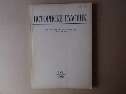 ISTORIJSKI GLASNIK 1 - 2 / 1951