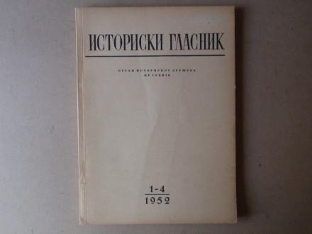 ISTORIJSKI GLASNIK 1 - 4 / 1952