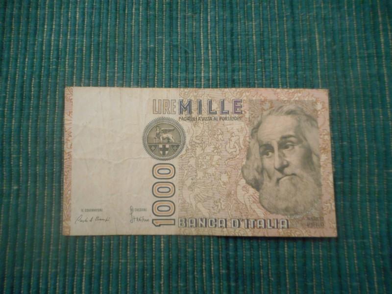 ITALIJA 1000 Lira 1982