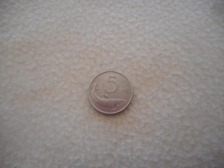 ITALIJA 5 Lira 1955