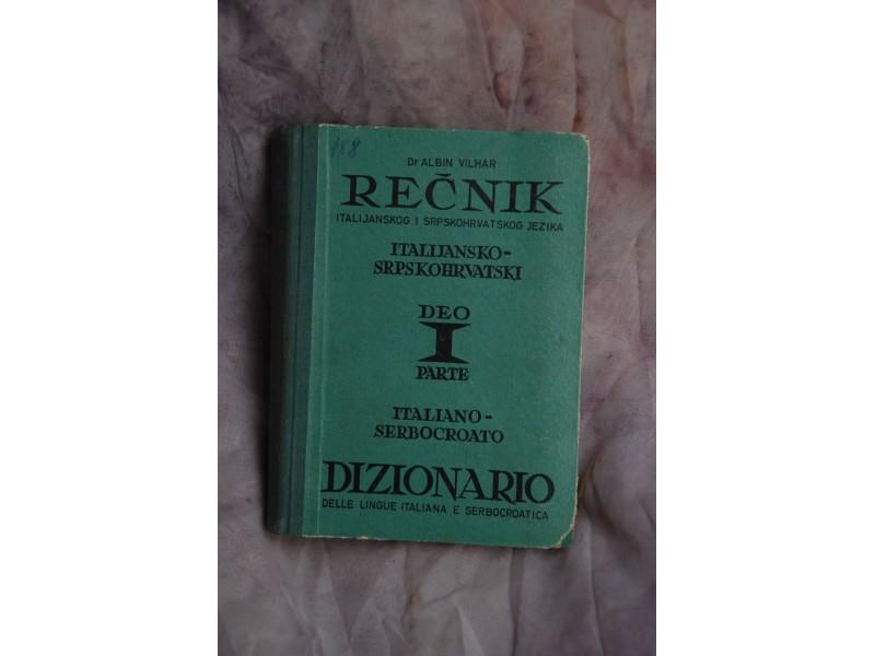 ITALIJANSKO - SRPSKO-HRVATSKI REČNIK