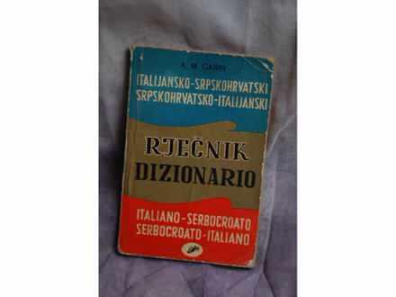 ITALIJANSKO-SRPSKOHRVATSKI RJEČNIK