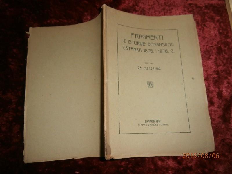 IVIĆ, FRAGMENTI IZ ISTORIJE BOSANSKOG USTANKA 1875.