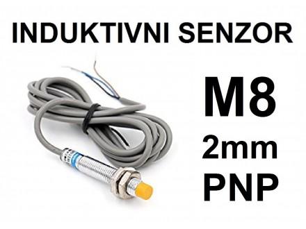 Induktivni senzor - LM8 - 2mm - PNP - 6-36VDC - NC
