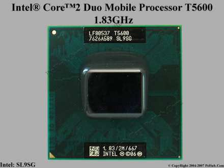Intel® Core™2 Duo Processor T5600  (2M Cache, 1.83 GHz,