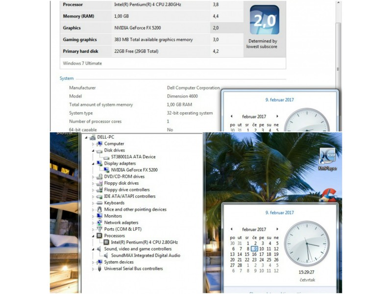 Intel P4 brend racunar komplet kuciste Dell Dimension