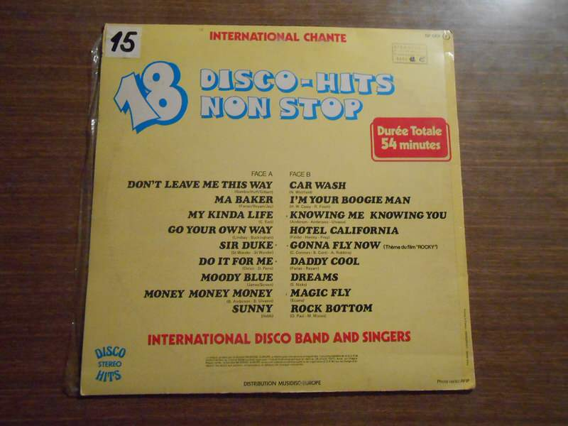 International Disco Band And Singers - 18 Disco-Hits Non Stop