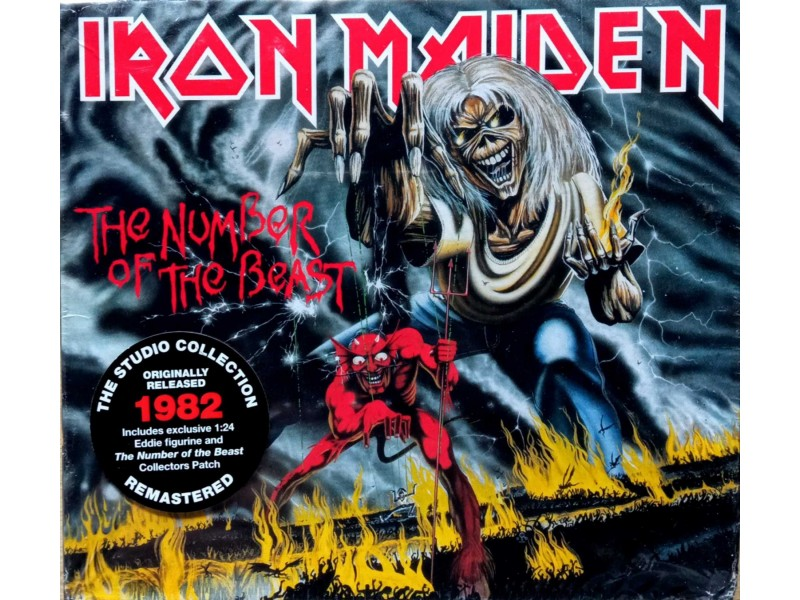 Iron maiden-the number of the beast cd+figura
