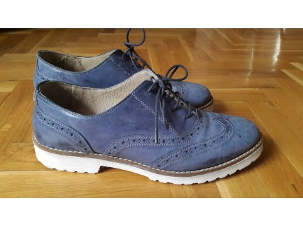 Italijanske plave cipele od prirodne kože