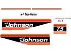 JOHNSON 7.5 - Nalepnice za vanbrodski motor