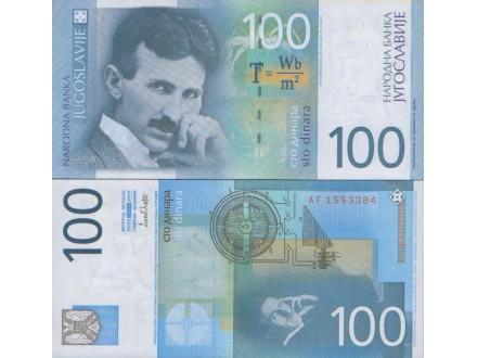 JUGOSLAVIJA 100 DINARA 2000 ST-184/P-156 UNC