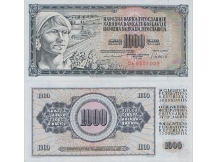 JUGOSLAVIJA 1000 DINARA 1981 UNC, ST-116/P-92d