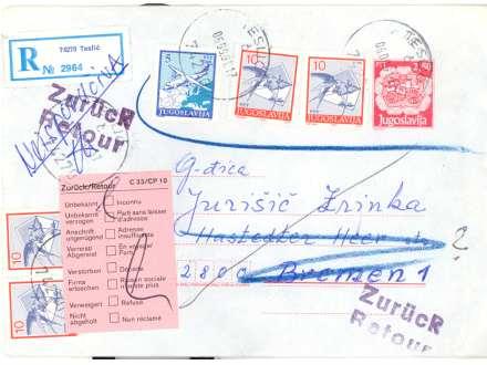 JUGOSLAVIJA CELO PISMO TESLIĆ 1991