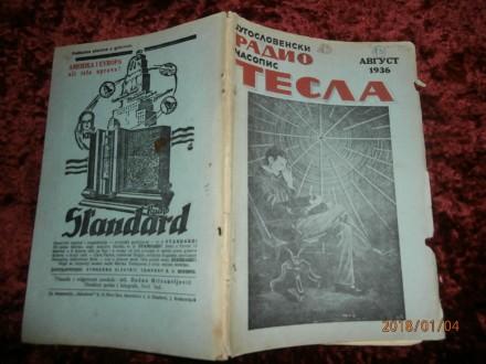 JUGOSLOVENSKI RADIO ČASOPIS TESLA, AVGUST 1936