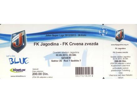 Jagodina - Crvena Zvezda , 2013.god.