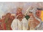 James Ensor - Masks confronting Death (1888)