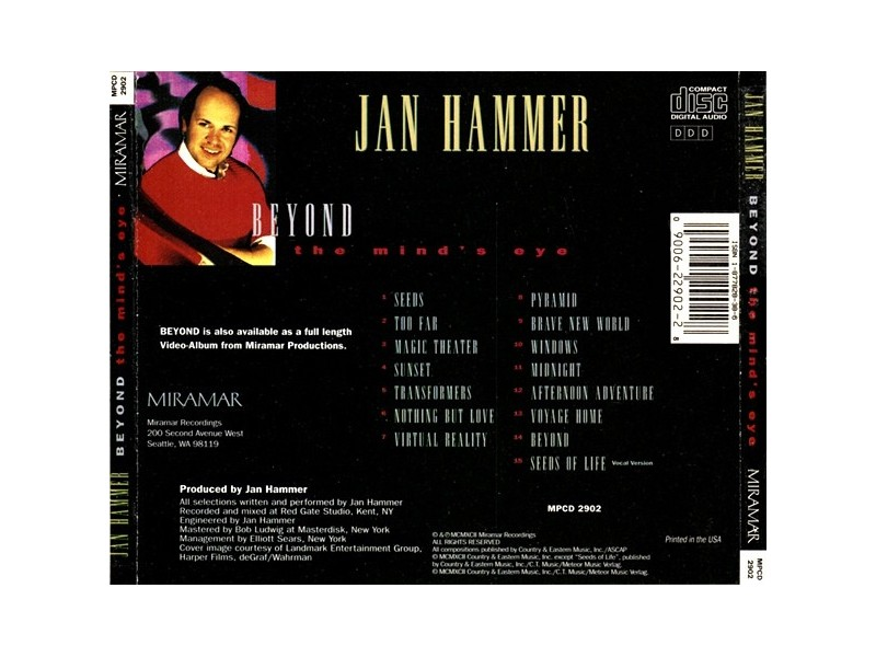 Jan Hammer - Beyond The Mind`s Eye