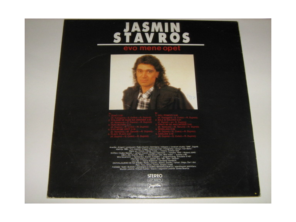 Jasmin Stavros - Evo mene opet
