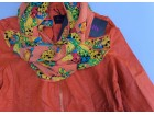 Jesenja narandzasta jakna sa cipkom Velicina M Ramena 3