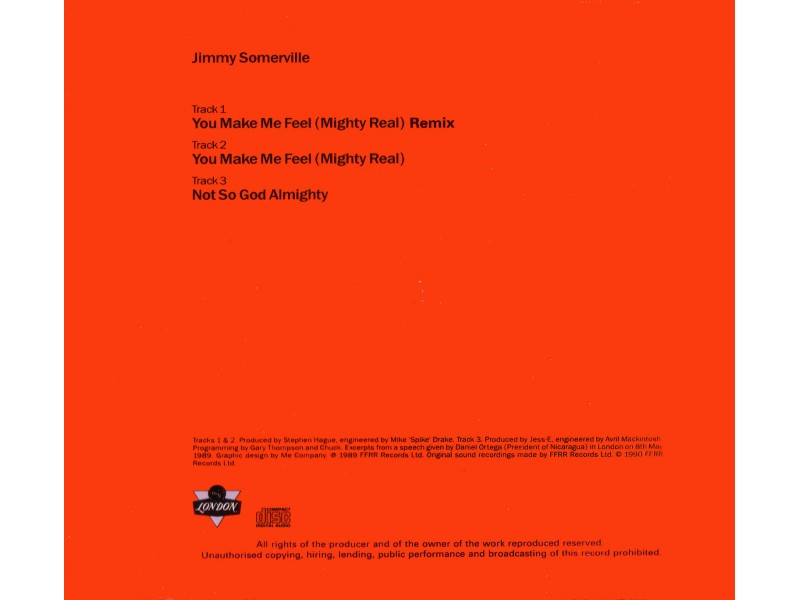 Jimmy Somerville - You Make Me Feel (Mighty Real) (Remix)
