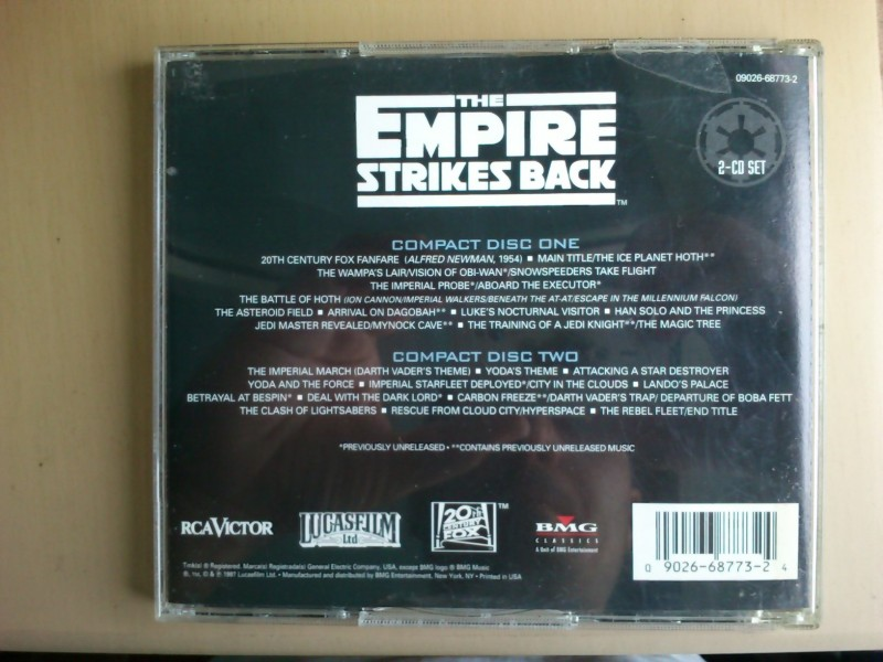 John Williams (4) - The Empire Strikes Back (The Original Motion Picture Soundtrack)