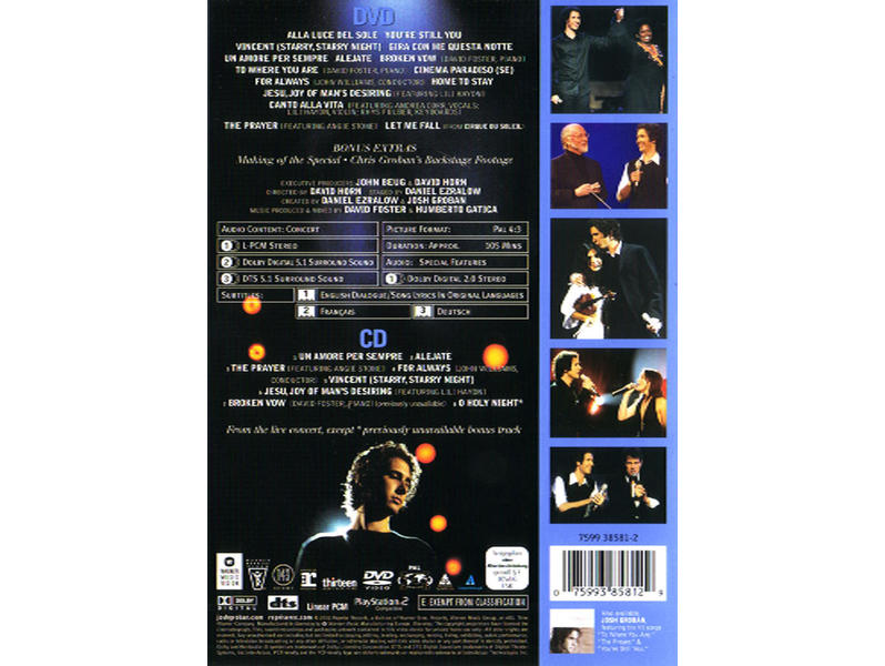 Josh Groban - Josh Groban In Concert  DVD+CD
