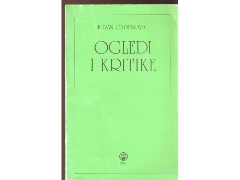 Jovan Čađenović: Ogledi i kritike