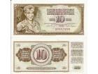 Jugoslavija 10 dinara 1968. UNC bez niti DR serija