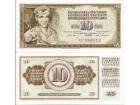 Jugoslavija 10 dinara 1968. UNC bez niti DT serija
