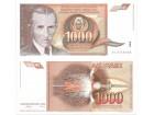 Jugoslavija 1000 dinara 1990. UNC ST-132 P-107