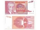 Jugoslavija 1000 dinara 1992. UNC ST-141/P-114
