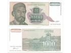 Jugoslavija 1000 dinara 1994. UNC ST-167/P-140