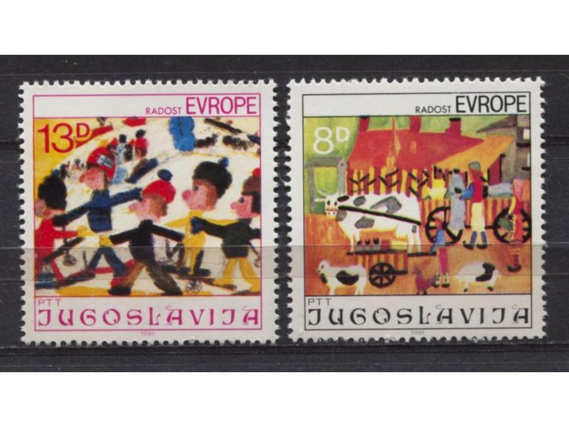 Jugoslavija 1981 Radost Evrope