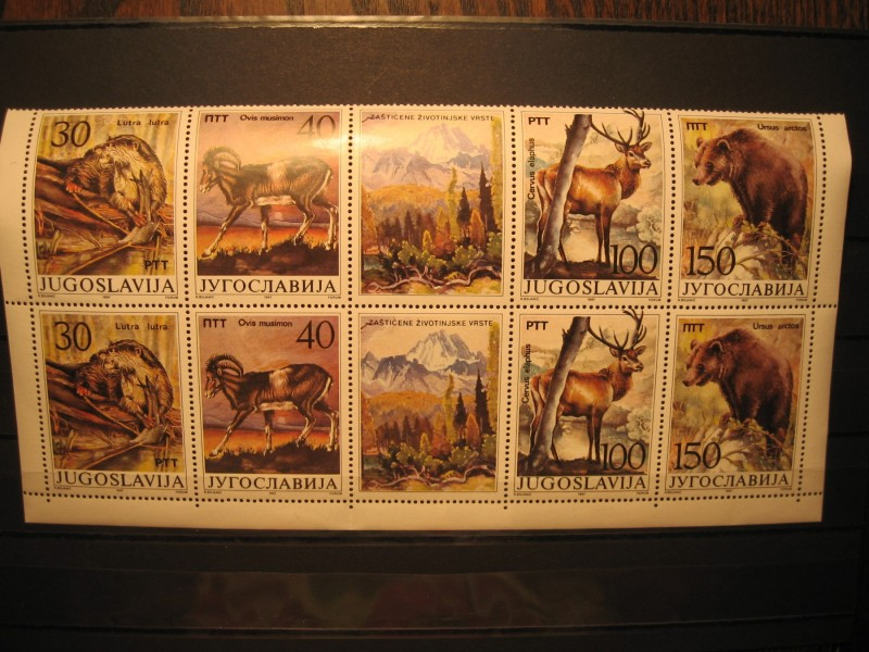 Jugoslavija 1987 Serija sa vinjetom x 2 Cisto**  (1957)