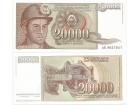 Jugoslavija 20.000 dinara 1987. UNC ST-120a/P-95