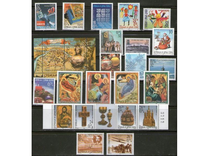 Jugoslavija, 2003, kompletna godina, cisto (**)