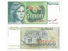 Jugoslavija 50.000 dinara 1988. UNC ST-121/P-96