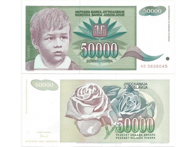 Jugoslavija 50.000 dinara 1992. UNC ST-144/P-117