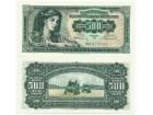 Jugoslavija 500 dinara 1955. UNC ST-88/P-70
