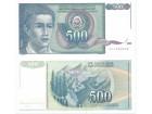 Jugoslavija 500 dinara 1990. UNC ST-131 P-106