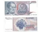 Jugoslavija 5000 dinara 1985. UNC ST-117/P-93