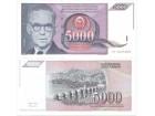 Jugoslavija 5000 dinara 1991. UNC ST-138/P-111