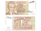 Jugoslavija 5000 dinara 1993. UNC ST-155/P-128