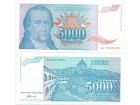 Jugoslavija 5000 dinara 1994. UNC ST-168/P-141