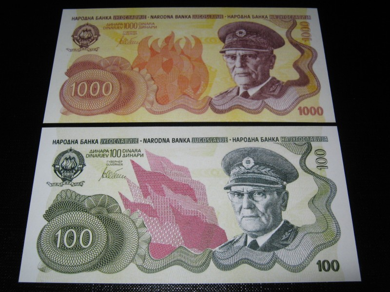 Jugoslavija ND Tito LOT Neizdate REPLIKE UNC