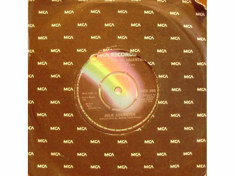 Julie Covington - Don`t Cry For Me Argentina / Rainbow High